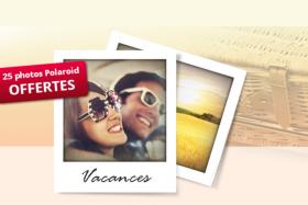 25 tirages numériques Polaroid offerts !