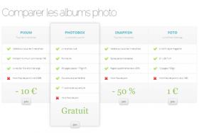 Comparer les albums photo !
