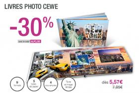 30% de réduction immédiate sur les livres photo personnalisés