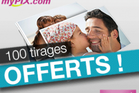 myPIX : 100 tirages photo OFFERTS !