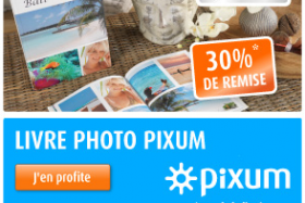 30% de remise immédiate sur votre Livre photo Pixum