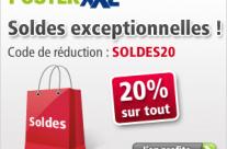 Remise de 20% spéciale soldes avec posterXXL